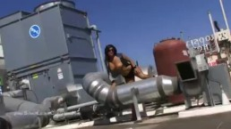 Phat Titty Sunny Leone Nude On A Rooftop In La Super-steamy Shoot