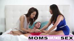 Mummys Train Orgy  Step Mother Boinks Daughters Beau