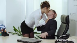 Julia Roca Has Her Furry Poon Boinked In The Office