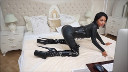 Anisyia Livejasmin Total Spandex And Extraordinary High Heel Shoes Twat Foray